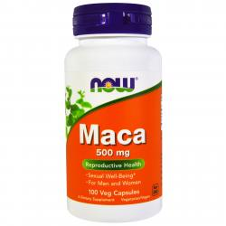 Now Foods Maca 500 mg 100 vcaps