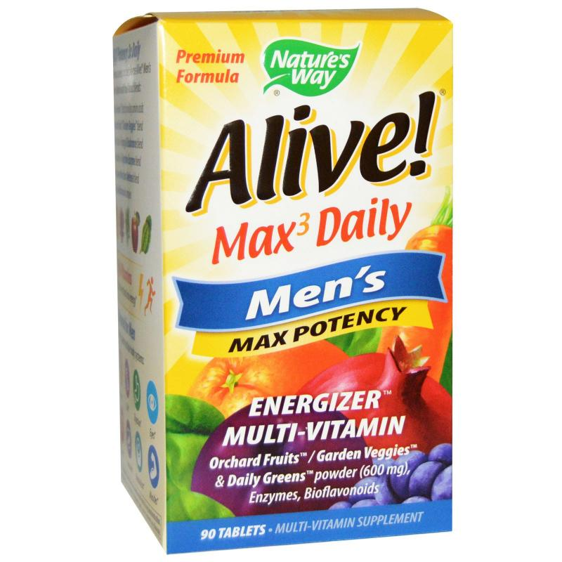 Nature's Way Alive Max3 Daily Multi-Vitamin 90 tablets - фото 1