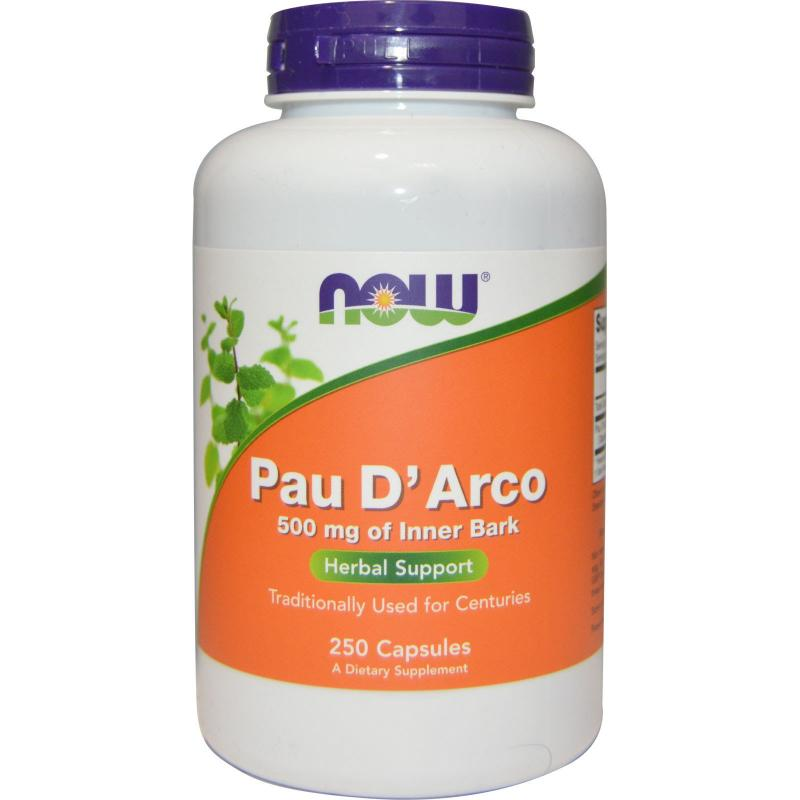 Now Foods Pau D'Arco 500 mg 250 caps - фото 1