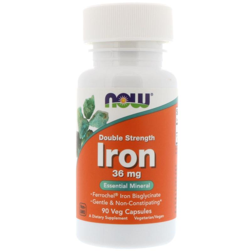 Now Foods Iron 36 mg 90 vcaps - фото 1