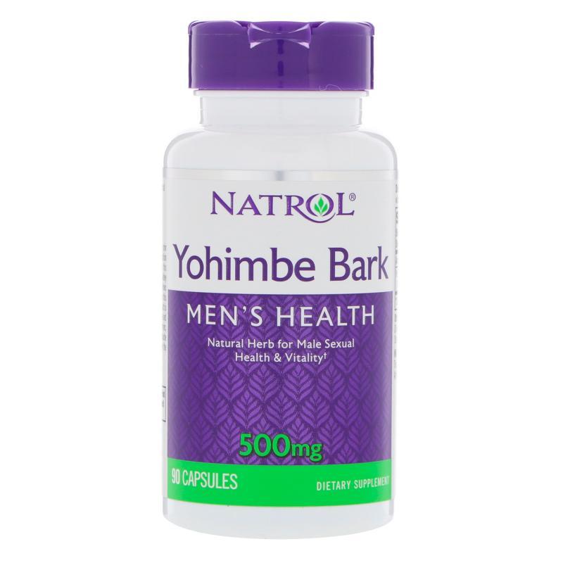 Natrol Yohimbe Bark 500 mg 90 caps - фото 1