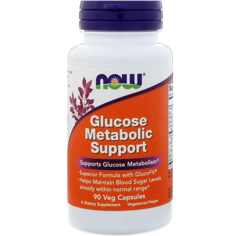 Now Foods Glucose Metabolic Support 90 vcaps - фото 1