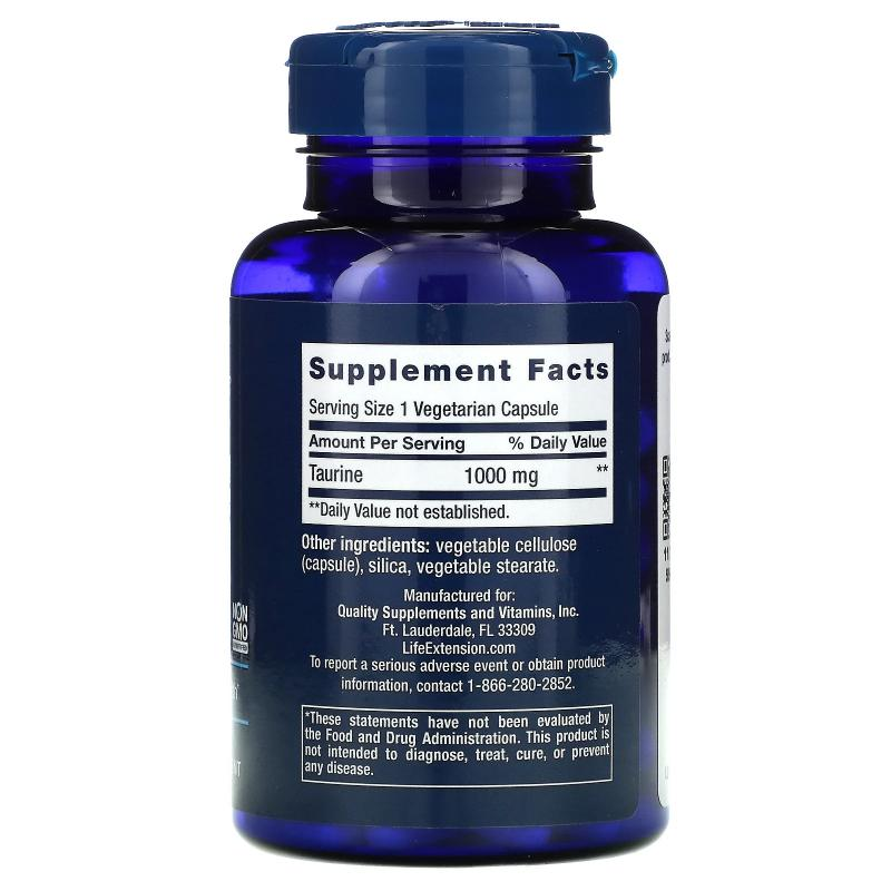 Life Extension Taurine 1000 mg 90 capsules - фото 1