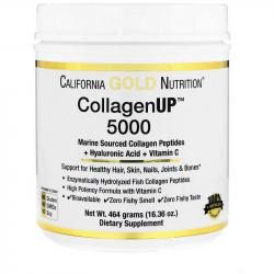 California Gold Nutrition Collagen UP 5000 + Hyaluronic Acid + Vitamin C 461 g