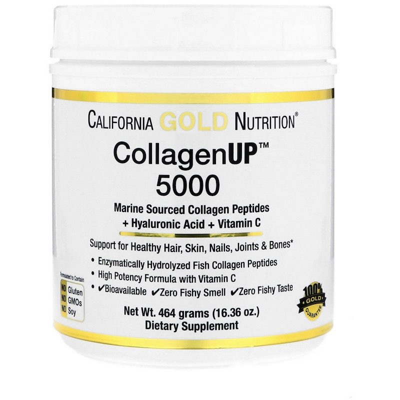 California Gold Nutrition Collagen UP 5000 + Hyaluronic Acid + Vitamin C 461 g - фото 1