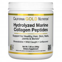 California Gold Nutrition Hydrolyzed Marine Collagen Peptides 200 g