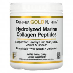 California Gold Nutrition Hydrolyzed Marine Collagen Peptides 200 g