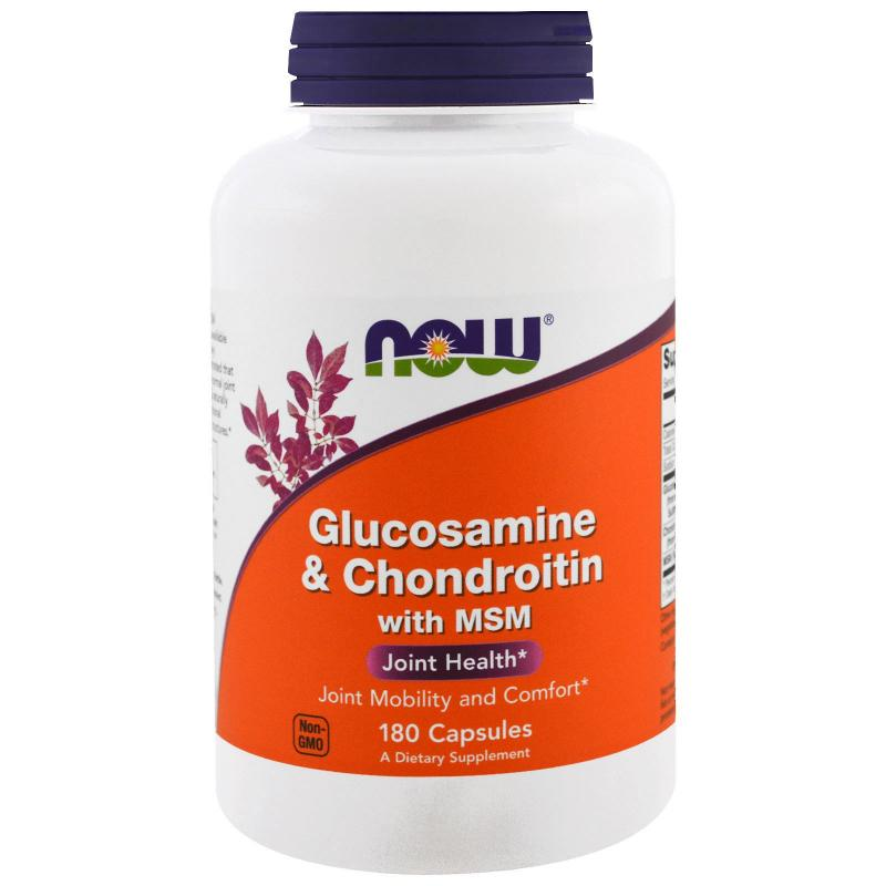 Now Foods Glucosamine & Chondroitine with MSM 180 vcaps - фото 1