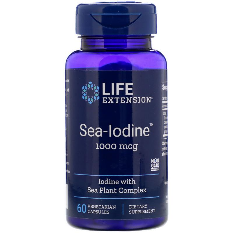Life Extension Sea-Iodine 1000 mcg 60 Vegetarian Capsules - фото 1
