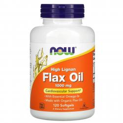 Now Foods Flax Oil 1000 mg 120 Softgels