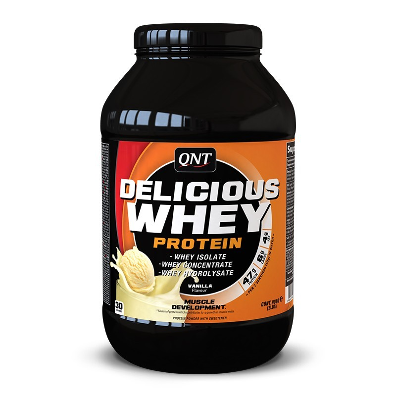 QNT Delicious Whey Protein 908 g. (Крем) - фото 1