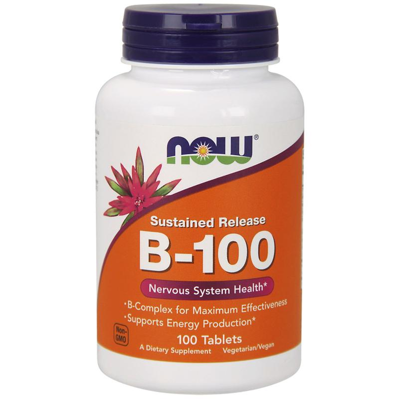 Now Foods B-100 Complex 100 tabs - фото 1