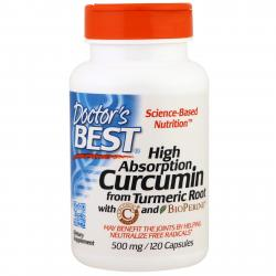 Doctor's Best High Absorption Curcumin from Turmeric Root 500 mg 120 caps