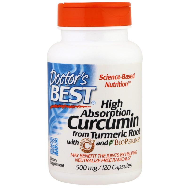 Doctor's Best High Absorption Curcumin from Turmeric Root 500 mg 120 caps - фото 1