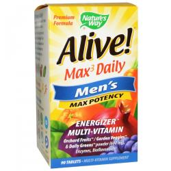 Nature's Way Alive Max3 Daily Men's Multi-Vitamin 90 tablets