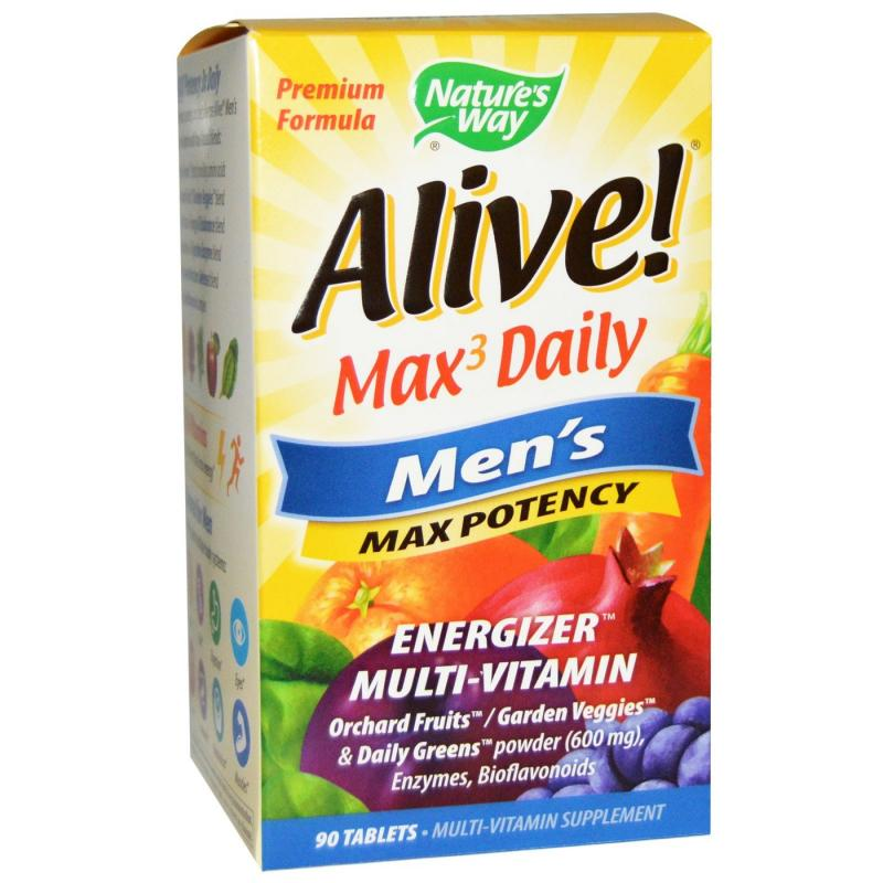 Nature's Way Alive Max3 Daily Men's Multi-Vitamin 90 tablets - фото 1