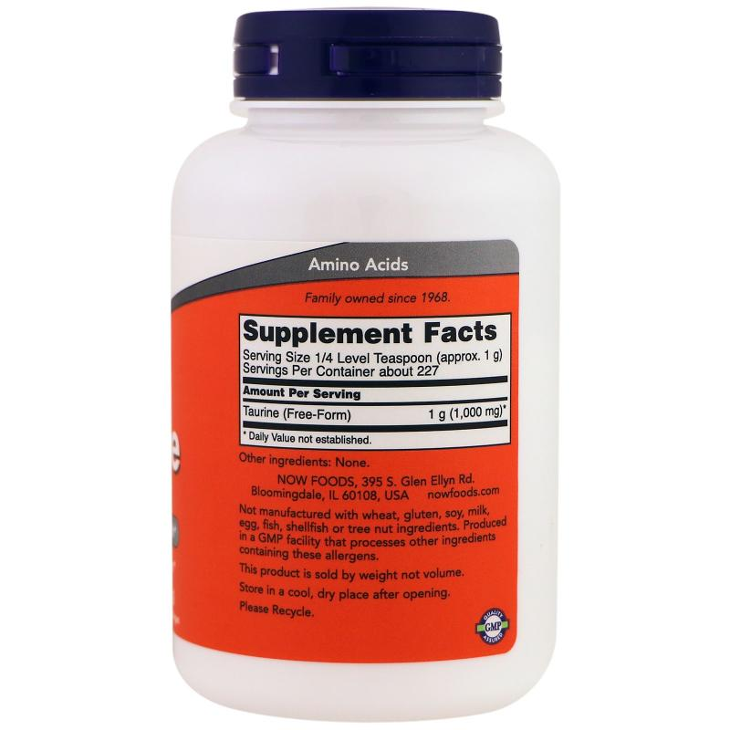 Now Foods Taurine Pure Powder 227 g - фото 1