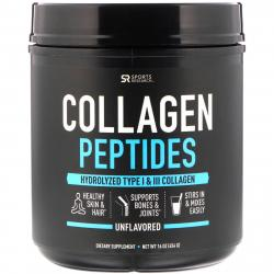 Sports Research Collagen Peptides Hydrolyzed Type 1 & 3 Без Добавок 454 грамма