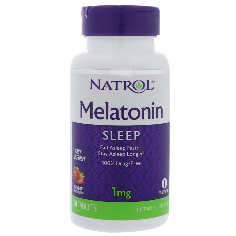 Natrol Melatonin Fast Dissolve Strawberry 1 mg 90 tab - фото 1