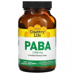 Country Life Paba 1000 mg 60 tablets