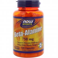 Now Foods Beta-Alanine 750 mg 120 caps
