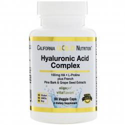 California Gold Nutrition Hyaluronic Acid Complex 60 Vcaps