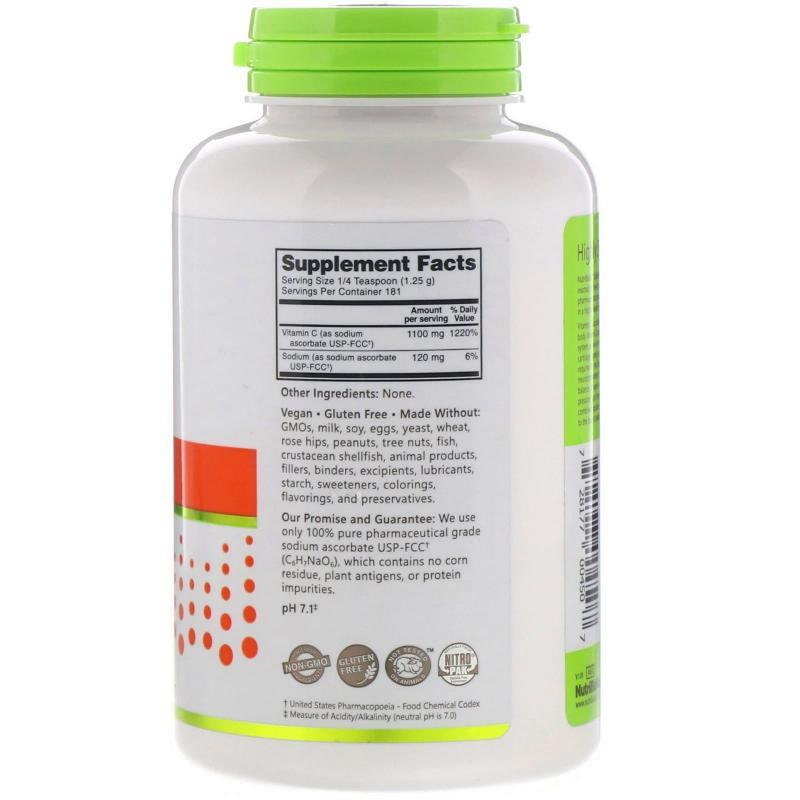 NutriBiotic Sodium Ascorbate buffered vitamin C 227 g - фото 1