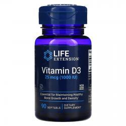 Life Extension Vitamin D3 25 mcg (1.000 IU) 90 Softgels