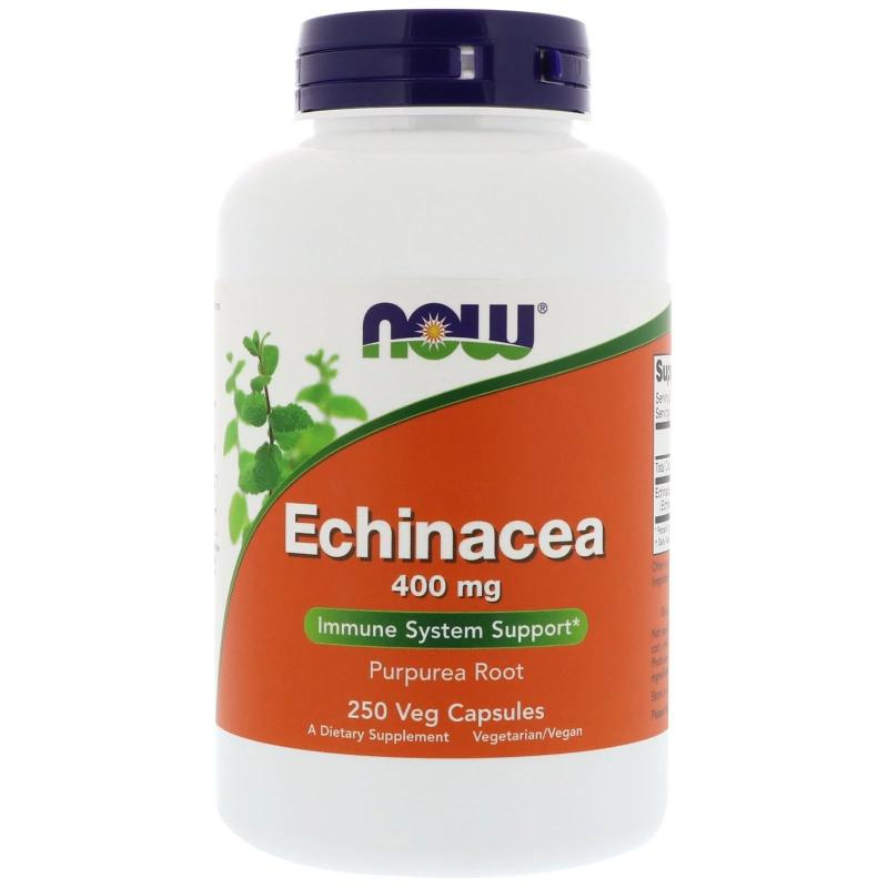 Now Foods Echinacea 400 mg 250 capsules - фото 1