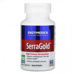 Enzymedica SerraGold High Potency Serrapeptase 60 capsules