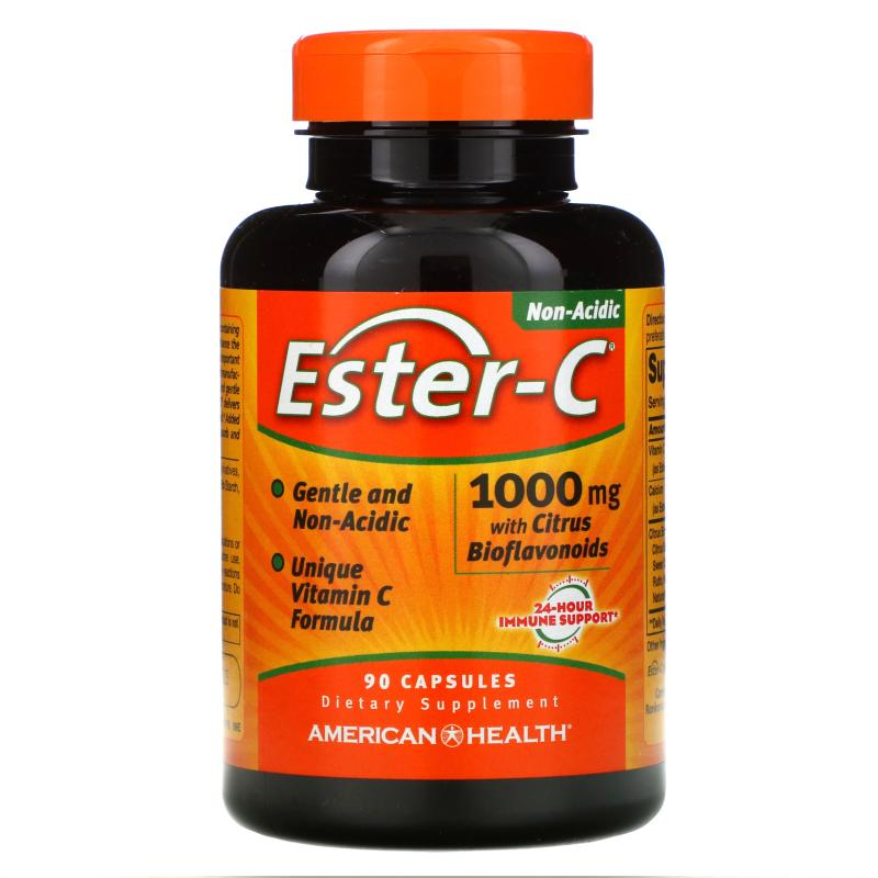American Health Ester-C with Citrus Bioflavonoids 1000 mg 90 Capsules - фото 1