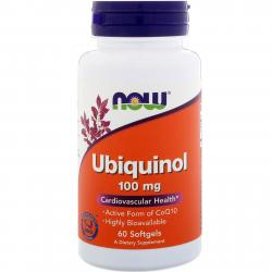 Now Foods Ubiquinol 100 mg 60 vcaps