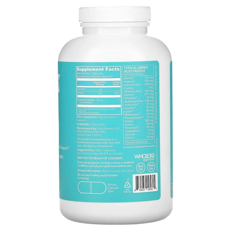 Vital Proteins Marine collagen 10 g per day 360 capsules - фото 1