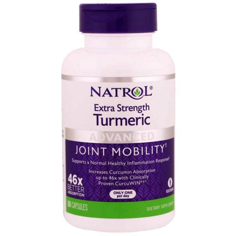 Natrol Turmeric Extra Strenght 60 Capsules - фото 1