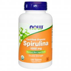 Now Foods Spirulina 1000 mg 120 tablets