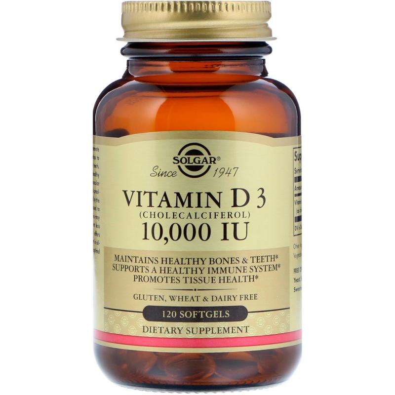 Solgar Vitamin D 3 10,000 IU 120 Softgels - фото 1