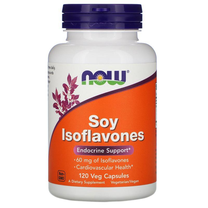 Now Foods Soy Isoflavones 60 mg 120 caps - фото 1