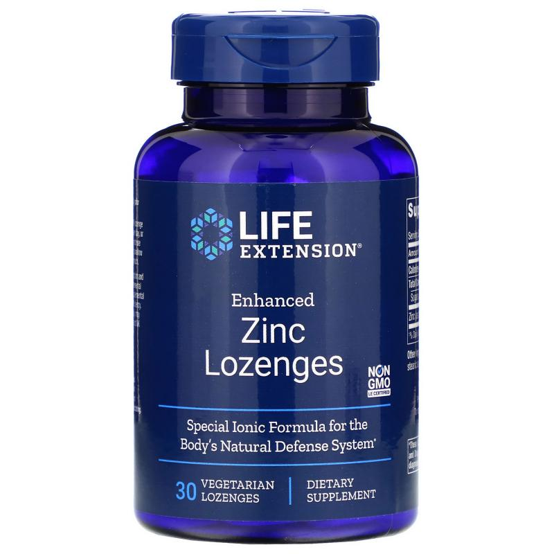 Life Extension Zinc Lozenges 30 Vegetarian lozenges - фото 1