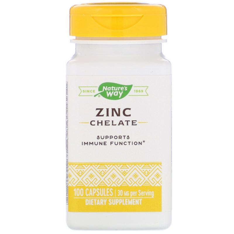 Nature's Way Zinc Chelate 30 mg 100 Capsules - фото 1