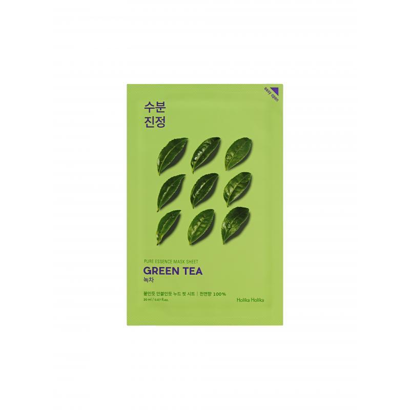 Holika Противовоспалительная тканевая маска зеленый чай Pure Essence Mask Sheet Green Tea - фото 1