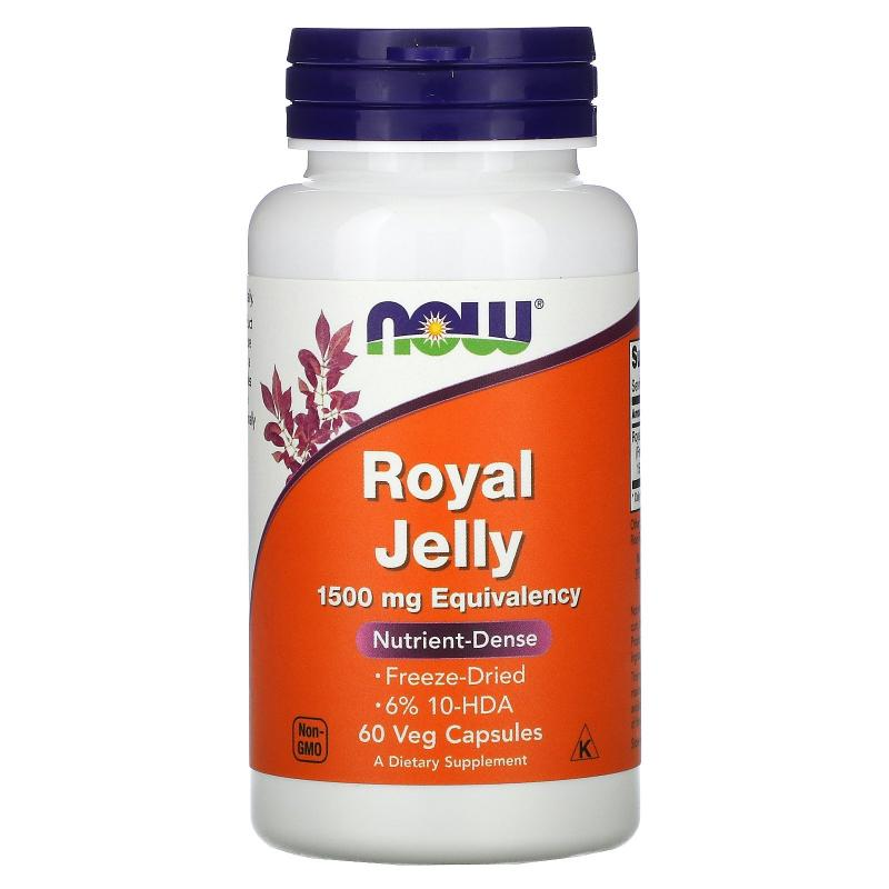 Now Foods Royal Jelly 1500 mg 60 capsules - фото 1