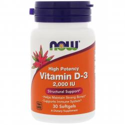 Now Foods Vitamin D-3 2.000 IU 30 soft