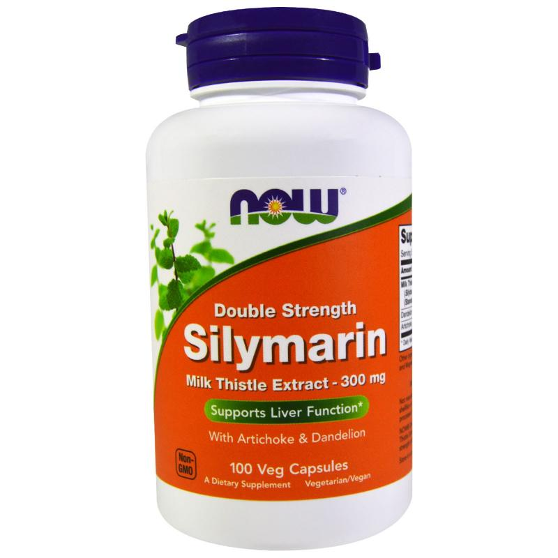Now Foods Silymarine Doble Strenght 300 mg 100 vcaps - фото 1