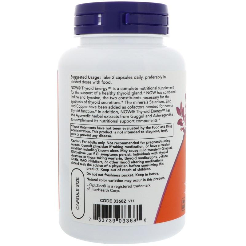 Now Foods Thyroid Energy 90 vcaps - фото 1