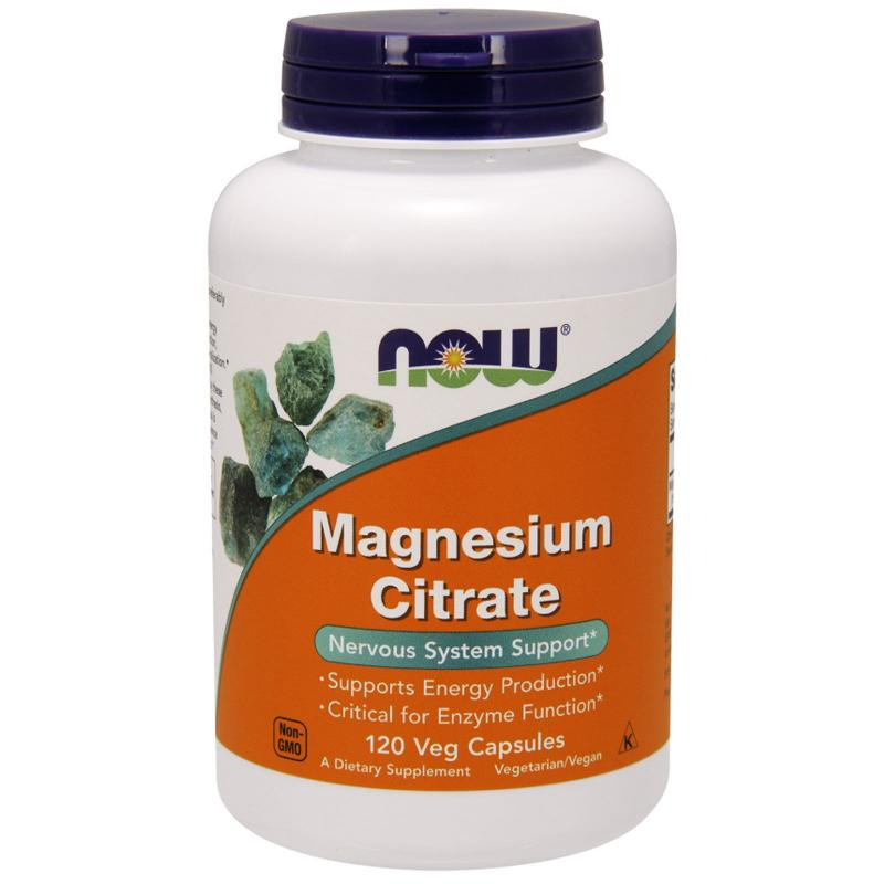 Now Foods Magnesium Citrate 120 vcaps - фото 1