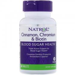 Natrol Cinnamon, Chromium Biotin 60 tab