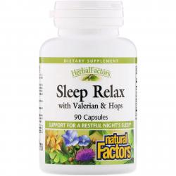 Natural Factors Sleep Relax with Valerian & Hops 90 Capsules