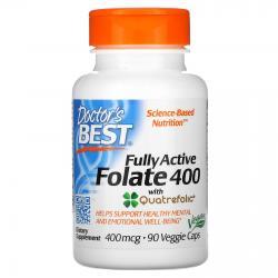 Doctor's Best Fully Active Folate 400 с Quatrefolic 400 mkg 90 caps