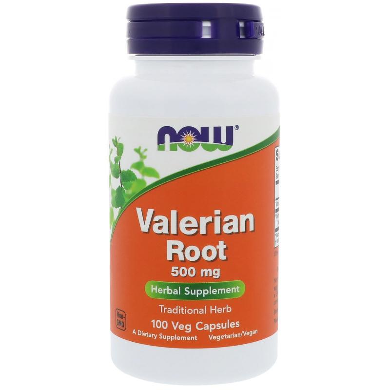 Now Foods Valerian Root 500 mg 100 vcaps - фото 1