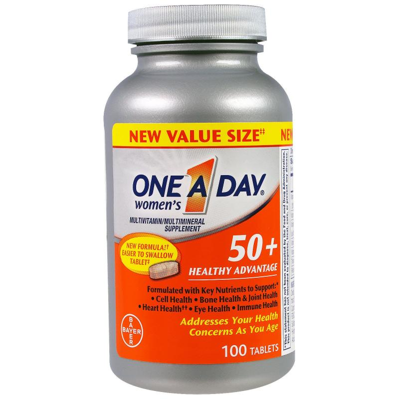 One A Day Women's 50+ Healthy Advantage 100 Tablets - фото 1